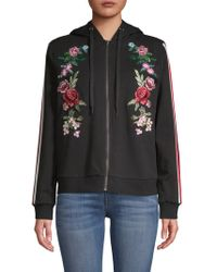 G-Star RAW - Embroidered Hooded Jacket - Lyst