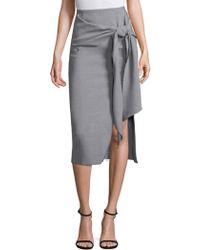 Jason Wu - Wool Canvas Wrap Skirt - Lyst