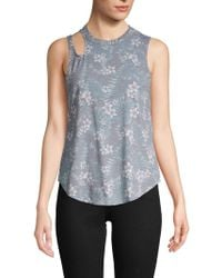 Chaser - Floral-print Tank Top - Lyst