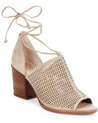 Vince Camuto - Lindel Lace-up Suede Booties - Lyst