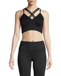 81b3985ca4eb9 Betsey Johnson - Crisscross Knit Sports Bra - Lyst