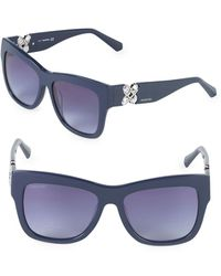 Swarovski - 54mm Crystal Square Sunglasses - Lyst