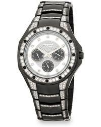 Bulova - Crystal-trimmed Stainless Steel Bracelet Watch - Lyst