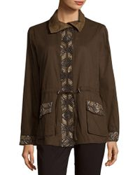 Haute Hippie - Embroidered Eagle Long-sleeve Jacket - Lyst
