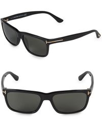 Tom Ford - 55mm Rectangle Sunglasses - Lyst