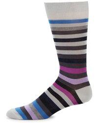 Saks Fifth Avenue - Ribbed Stripe Crew Socks - Lyst