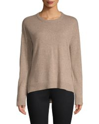 Saks Fifth Avenue - Contrast Trim Cashmere Jumper - Lyst