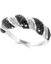 Effy - Black Diamond, Diamond And 14k White Gold Ring, 1.05 Tcw - Lyst