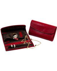 Bey-berk - Patterned Leather Jewellery Clutch - Lyst