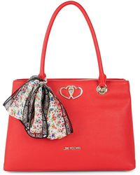 Love Moschino - Textured Logo Tote - Lyst