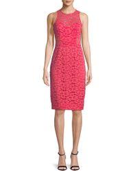 Trina Turk   Floral Lace Knee-length Dress   Lyst