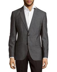 BOSS - Wool Check Sportcoat - Lyst