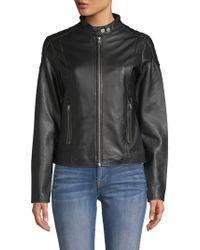 William Rast - Leather Biker Jacket - Lyst