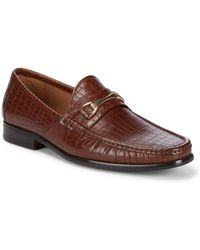 Saks Fifth Avenue - Donatello Leather Loafers - Lyst