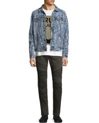 True Religion - Danny Ripped Cotton Jacket - Lyst