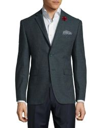 Original Penguin - Wool Blend Check Jacket - Lyst