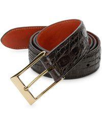 Saks Fifth Avenue Crocodile-embossed Leather Belt
