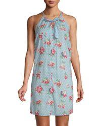 Jane And Bleecker - Floral Halter Sleepshirt - Lyst