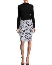 BOSS - Vimena Herringbone Pencil Skirt - Lyst