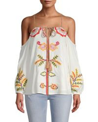 Red Carter - Cabana Cotton Blouse - Lyst