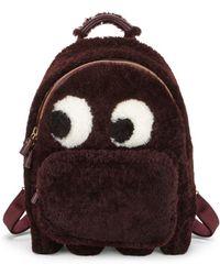 Anya Hindmarch - Mini Ghost Faux Fur Backpack - Lyst