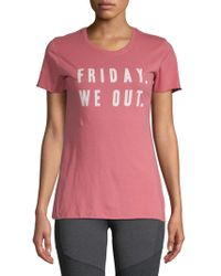 Project Social T - Friday We Out Cotton Tee - Lyst