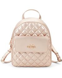 Love Moschino - Quilted Metallic Faux Leather Backpack - Lyst