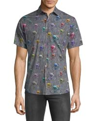 Jared Lang - Bicycle Short Sleeve Button Down Shirt - Lyst