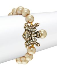 Heidi Daus - Deco Faux Pearl Double Toggle Bracelet - Lyst