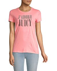 8bc2dafacf11 Juicy Couture - Embellished J Adore Cotton Tee - Lyst