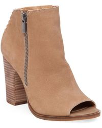 Lucky Brand - Lamija Leather Booties - Lyst