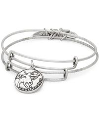 ALEX AND ANI - Sagittarius Charm Textured Slip-on Bracelet - Lyst