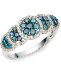 Le Vian - Exotics® 14k Vanilla Gold®, Blueberry Diamonds® & Vanilla Diamonds® Ring - Lyst