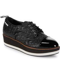 Love Moschino - Quilted Leather Platform Derbys - Lyst