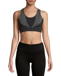 Gaiam - Heather Mix Halter Sports Bra - Lyst