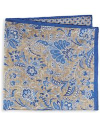 Saks Fifth Avenue - Floral Paisley Silk Pocket Square - Lyst