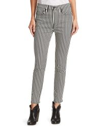Rag & Bone - Striped High-rise Ankle Skinny Jeans - Lyst