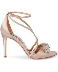 Badgley Mischka - Vanessa Embellished Sandals - Lyst