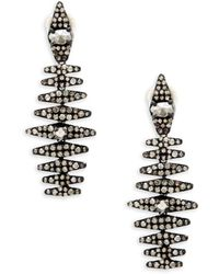 Bavna - Champagne Diamond And Sterling Silver Statement Earrings - Lyst