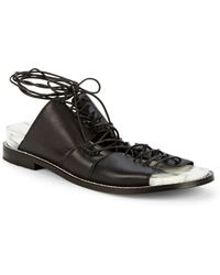 Kelsi Dagger Brooklyn - Olympia Leather Lace-up Backless Sandals - Lyst