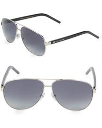 8c0bcb7459 Lyst - Marc Jacobs 61mm Clubmaster Sunglasses in Metallic
