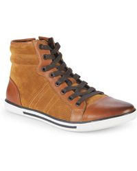Kenneth Cole - Base Down Low Suede Trainers - Lyst