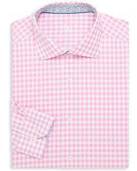 Bugatchi - Gingham Cotton Dress Shirt - Lyst