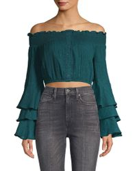 Red Carter - Off-the-shoulder Cropped Top - Lyst