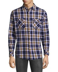 Standard Issue - Plaid Cotton Button-down Shirt - Lyst