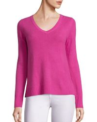 Saks Fifth Avenue - Cashmere V-neck Sweater - Lyst