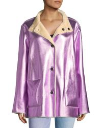 Opening Ceremony - Culver Faux Fur Reversible Coat - Lyst