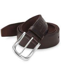 John Varvatos - Scalloped Edge Leather Belt - Lyst