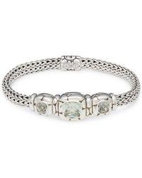 John Hardy - Kali Green Amethyst And Silver Bracelet - Lyst