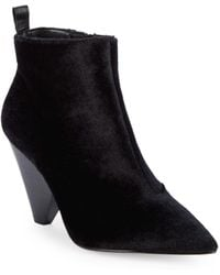 Pure Navy - Alyssa Faux Calf Hair Booties - Lyst